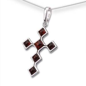 Open Work Pattern Cross Pendant