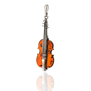 Very Small Violin Pendant